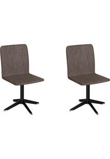 Conjunto Com 2 Cadeiras Raglan Marrom E Preto