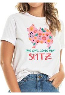 T-Shirt Loves Spitz Spring Feminina - Feminino-Branco
