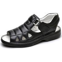 9f97d22c40 Dafiti. Sandalia Masculina Conforto Top Franca Shoes Preto