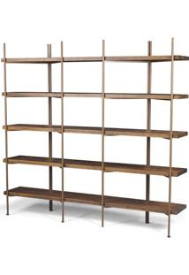 Estante Partition Driftwood Aco Cobre 1,87 Mt (Larg) - 41898 - Sun House