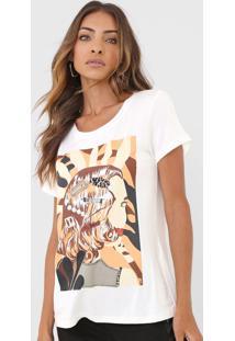 Camiseta Carmim Girl Off-White - Kanui