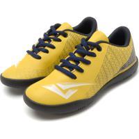 1d53b8a7cf Chuteira Bouts Menino Soccer I Amarela Azul-Marinho