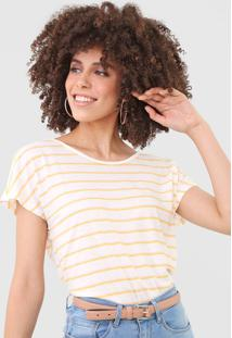 Camiseta Vero Moda Listrada Off-White - Off White - Feminino - Poliã©Ster - Dafiti