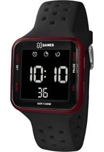 Relógio Masculino X-Games Digital Xqppd101 - Unissex-Vermelho