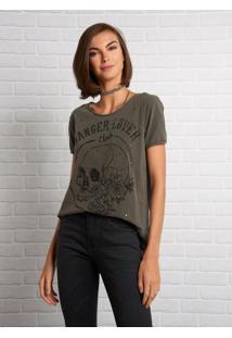 Camiseta John John Danger Lover Malha Cinza Feminina (Shirt Danger Lover, Pp)