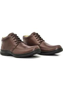 Bota Couro Sollu Soft New Absolut Masculina - Masculino-Café