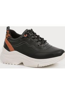 Tênis Feminino Chunky Sneaker Recorte Estampado Ramarim