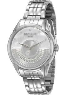 Relógio Feminino Seculus Analógico 28653L0Svna2 - Unissex-Prata