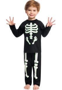 Pijama Camiseta E Calça Preto