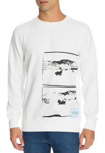 Casaco Ckj Masc Ml Andy Warhol Landscape - Branco - P