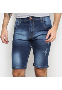 Bermuda Jeans Hd 7609A Masculina - Masculino-Azul