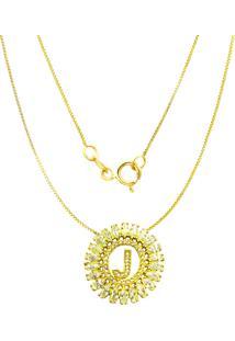Gargantilha Prata Mil Navete C/ Zircônia Folheado Em Ouro Dourado