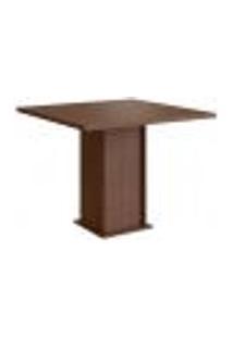 Conjunto De Mesa Com 4 Cadeiras Davi Suede Tabaco