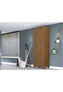 Armário Multiuso 2 Portas New Iris Castanho Wood - Lc Móveis