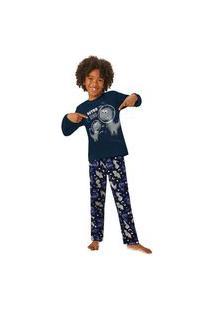 Pijama Infantil Masculino Inverno Estampa Malwee Kids