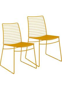 Cadeira 1712 Color Uv 02 Unidades Amarelo Ouro Carraro