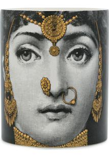 Fornasetti Face Print Candle - Cinza