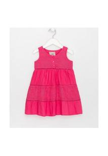 Vestido Infantil Com Tule Bordado - Tam 1 A 4 Anos | Póim (1 A 5 Anos) | Rosa | 05