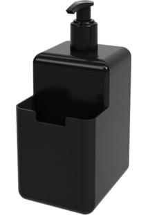 Dispenser Single 500Ml 8X10,5X18,2Cm Preto - 17008/0008 - Coza - Coza