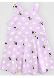 Vestido Gap Infantil Minnie Lilás