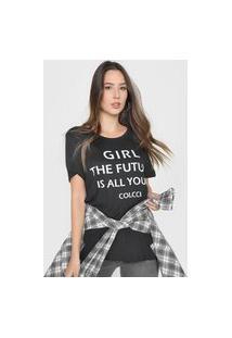 Camiseta Colcci The Future Is All Yours Preta