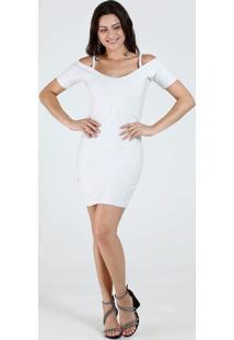 Vestido Feminino Open Shoulder Lurex Marisa