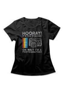 Camiseta Feminina Oh Wait I'M A Photographer Preto