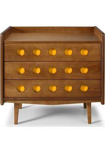 Cômoda Vintage - 3 Gavetas Amarelo - Tommy Design