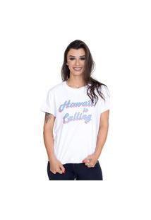 Camiseta Shatark Hawaii - Branco