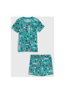 Pijama Malwee Liberta Curto Infantil Mar Verde