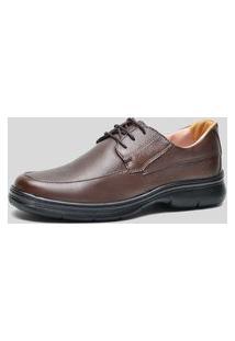 Sapato Conforto Ded Calçados Com Cadarço Café