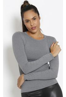 Blusa Lisa - Cinza Escuro - Physical Fitnessphysical Fitness