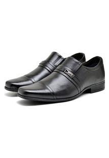 Sapato De Couro Social Masculino Preto