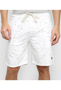 Bermuda Moletom Gajang Bicolor Masculina - Masculino-Branco