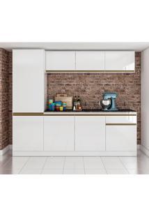 Cozinha Compacta C/ Tampo 2400 Pietra – Genialflex. - Branco / Preto