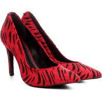 c77f05450 Scarpin Couro Jorge Bischoff Animal Print Tigre - Feminino-Vermelho