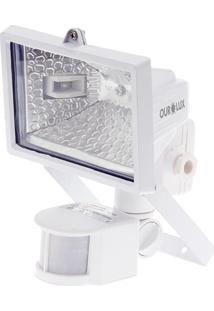 Refletor De Lâmpada Halógena 150W Branco Sensor Ourolux 01502 - Tricae