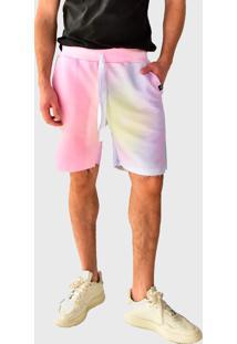 Bermuda Moletom Brohood Tie Dye Claro