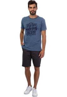 Bermuda Sarja Masculina - Masculino-Azul Claro
