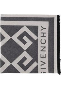 Givenchy Cachecol Monogramado - Cinza