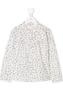 Bonpoint Camisa 'Julia' Com Estampa De Cereja - Branco