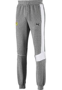 Calça Moletom Puma Ferrari Sweat Pants Masculina - Masculino-Cinza