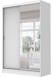 Guarda-Roupa Solteiro Luke Com Espelho 2Pt 2Gv Branco