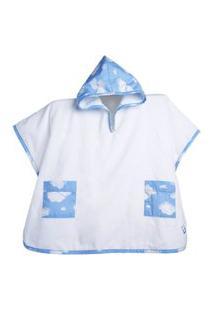 Roupáo Infantil Com Touca Nuvem Azul Büp Baby