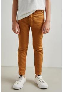 Calca Mini Pf Skinny Color Inv19 Reserva Mini - Masculino-Bege