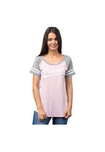 Camiseta College Player-Rosa-P