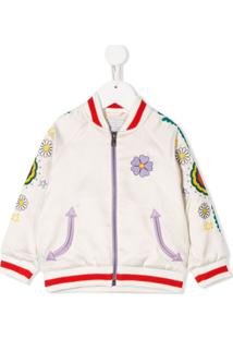 Stella Mccartney Kids Embroidered Bomber Jacket - Neutro