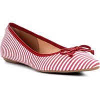 cd4608da0 Sapatilha Shoestock Bico Fino Laço Feminina - Feminino-Vermelho