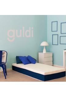 Colchão Solteiro King Mola Ensacada Guldi Macio (25X96X203) Azul E Branco