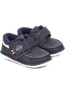 Sapato Infantil Klin Cravinho Masculino - Masculino-Marinho